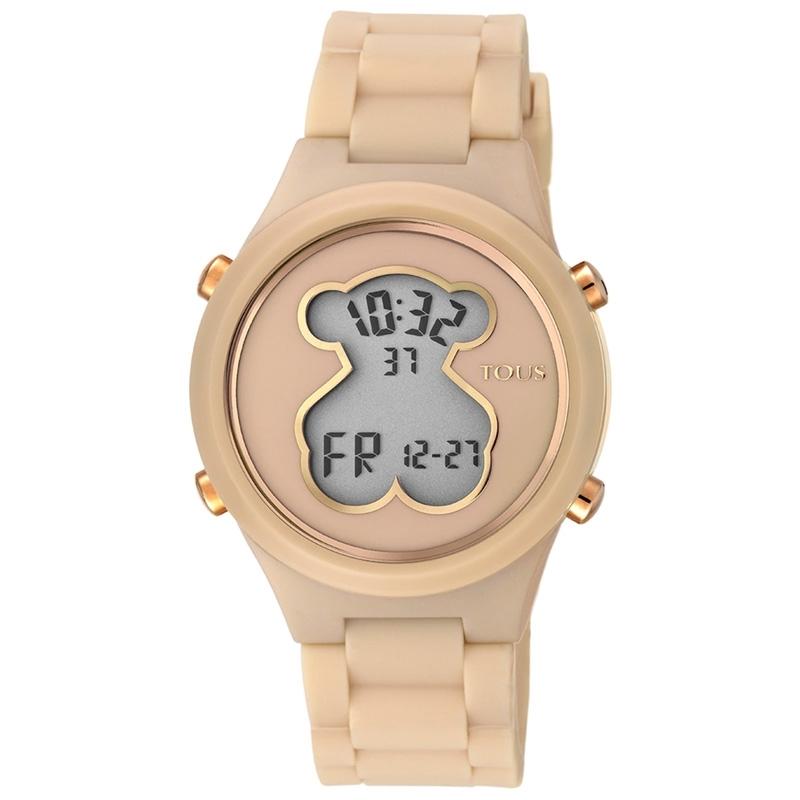 Reloj Tous D-Bear Teen digital de mujer en nude y dorado, 000351600.