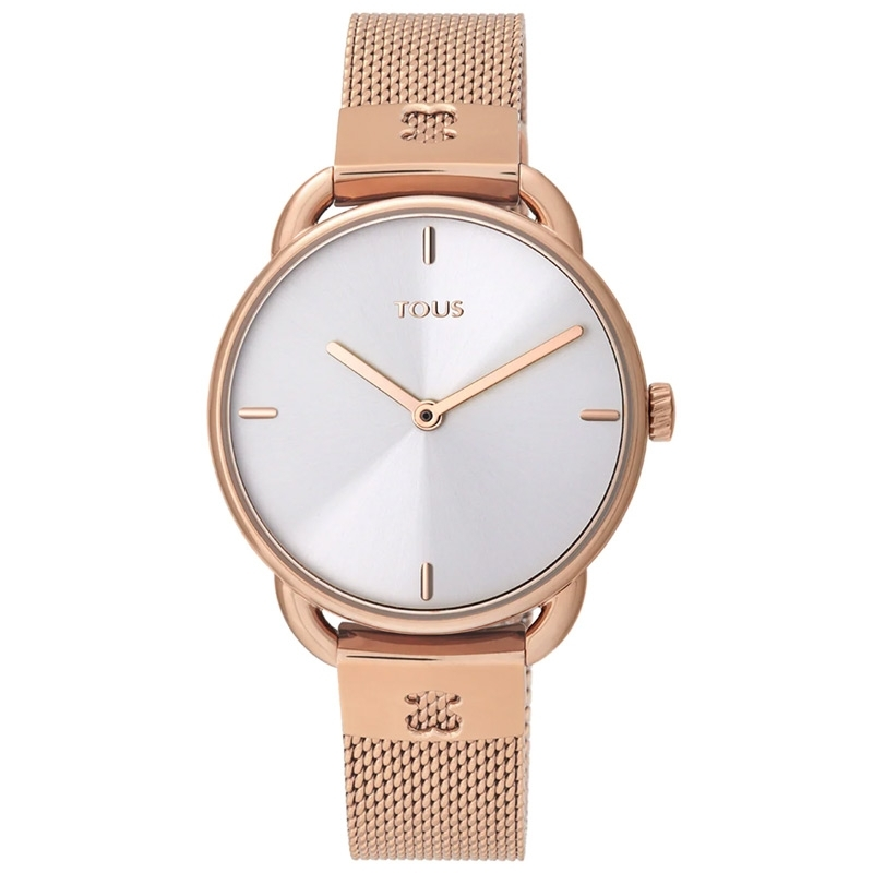 Reloj Tous Let Mesh para mujer dorado en oro rosé y correa de malla, 000351500.