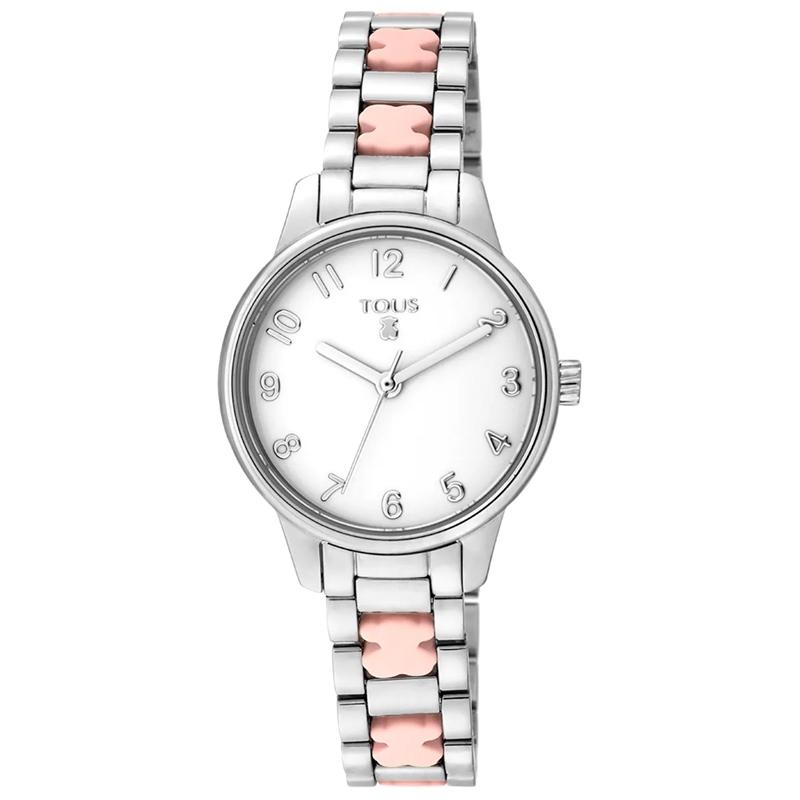 Reloj Tous Beary de mujer en acero y osos de silicona rosa, 000351410.