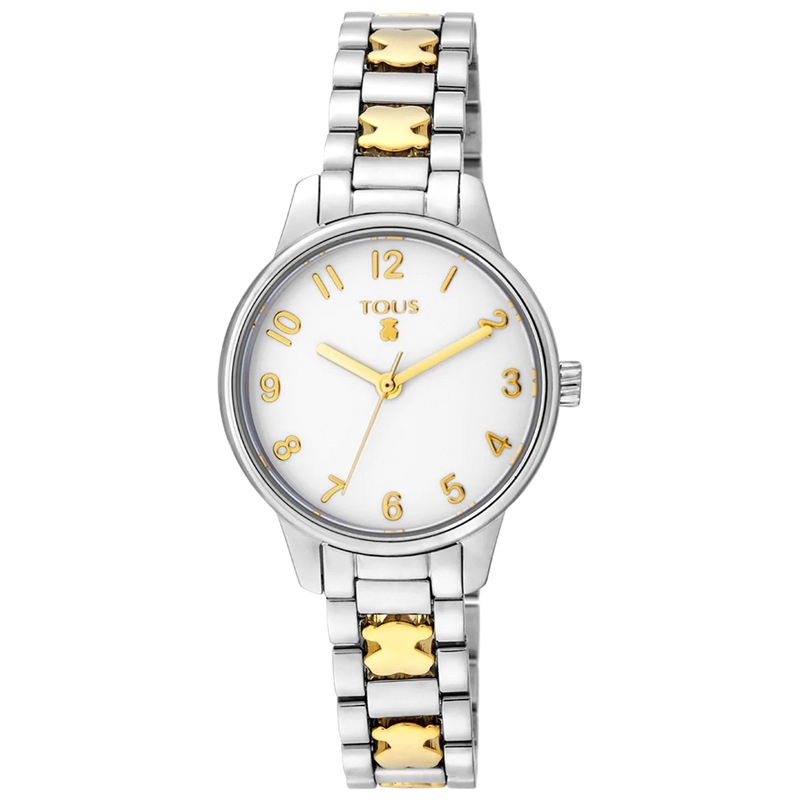 Reloj Tous Beary de mujer en acero bicolor dorado, 000351400.