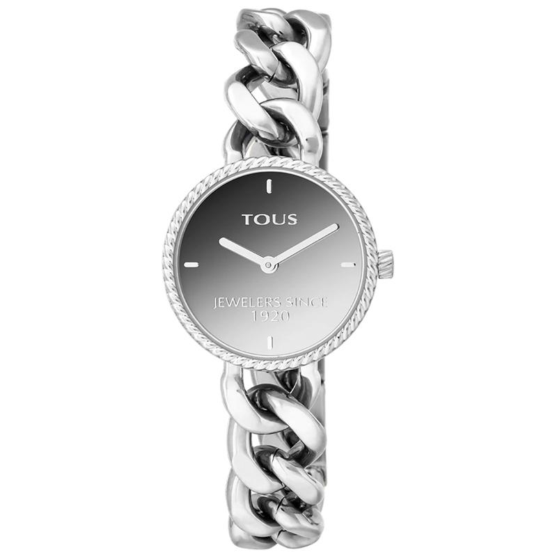 Reloj Tous Minne para mujer en acero con brazalete de cadena, 000351630