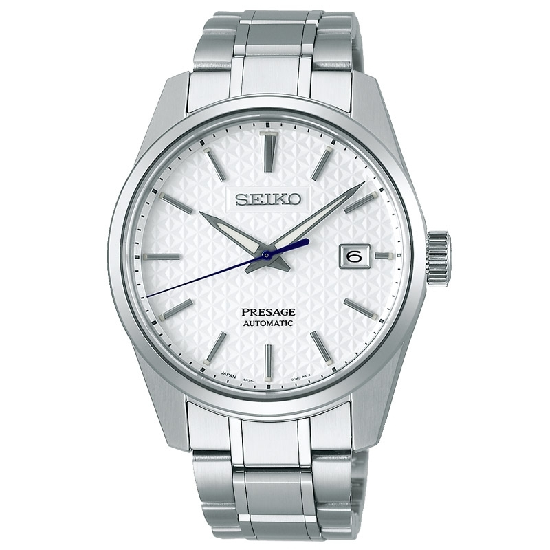 Reloj Seiko Presage Sharp Edged Series en acero automático, SPB165J1.