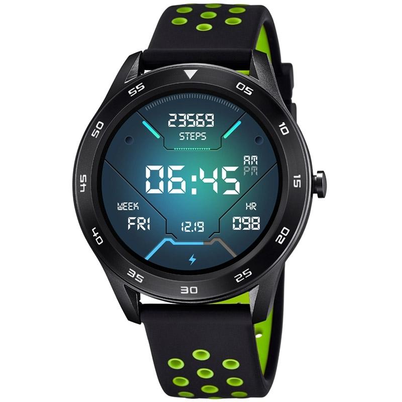 Reloj Inteligente Lotus Smartime de hombre negro con detalles verde, 50013/1.