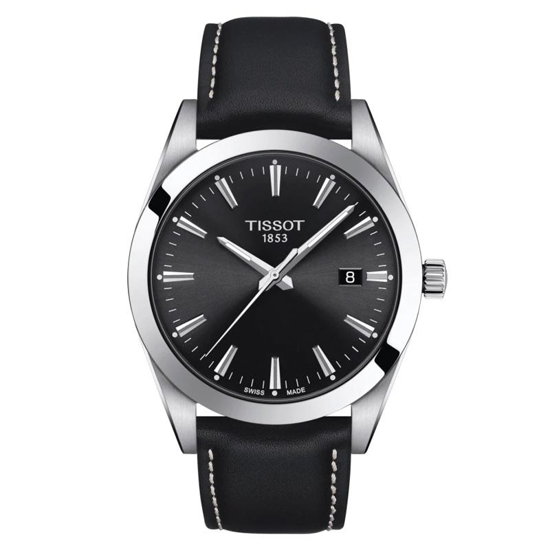 Reloj Tissot Gentleman de hombre en negro con caja de acero, T1274101605100.