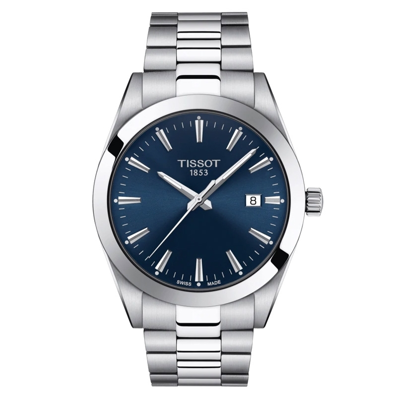 Reloj Tissot Gentleman de hombre en acero con esfera azul, T1274101104100.