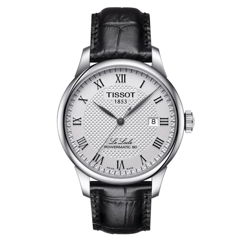 Reloj Tissot Le Locle Powermatic 80 de hombre con correa negra, T0064071603300.