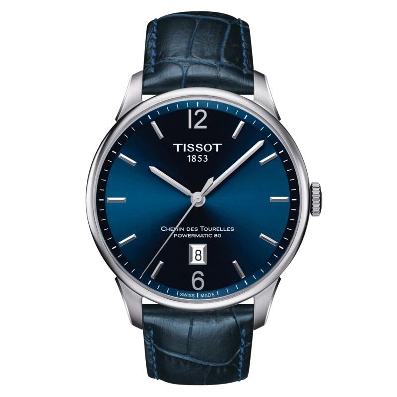 Reloj Tissot Chemin des Tourelles Powermatic 80 de hombre en azul, T0994071604700.