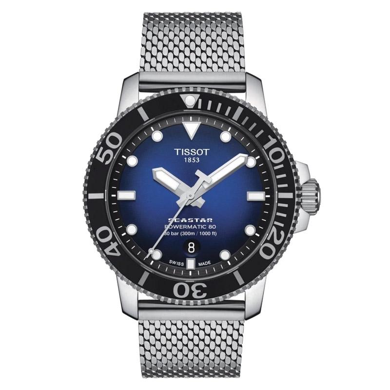 Reloj Tissot Seastar 1000 Powermatic 80 automático 300 metros, T1204071104102.