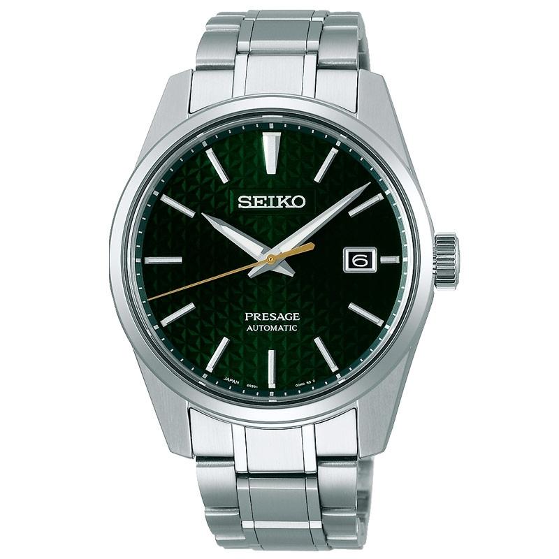 Reloj Seiko Presage Sharp Edged Series automático con esfera verde, SPB169J1.