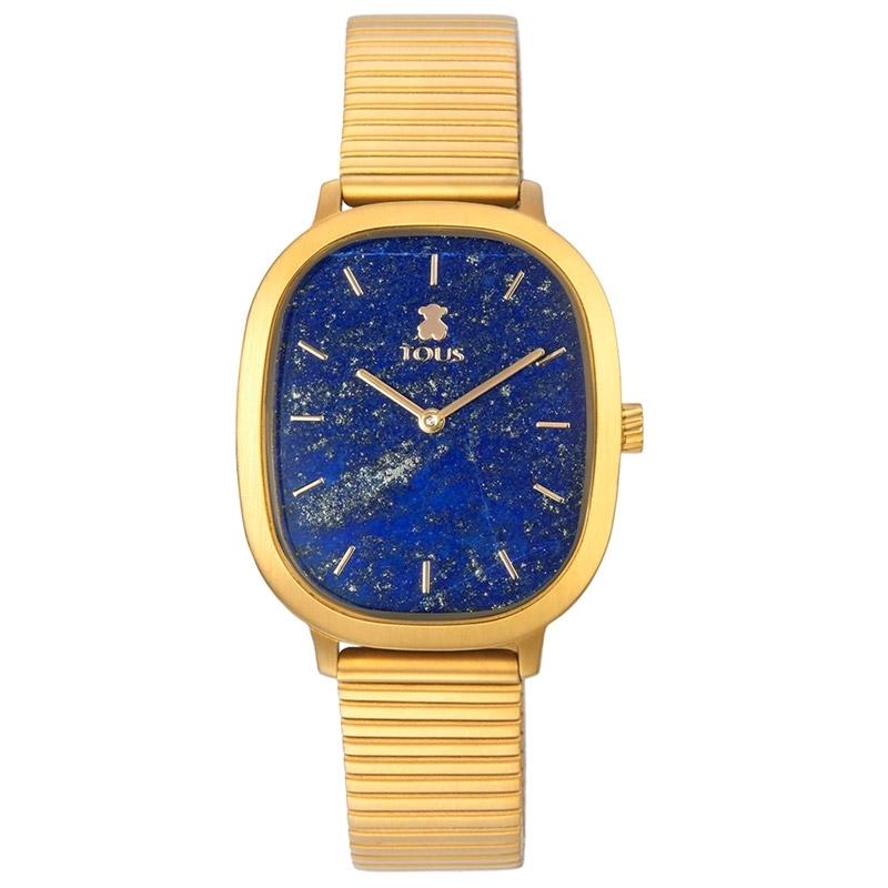 Reloj Tous Heritage Gems de mujer dorado con esfera en lapislázuli, 000351665.