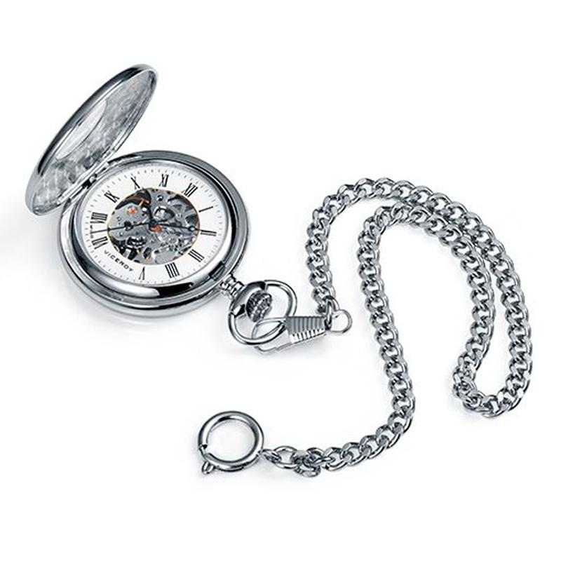 Reloj de bolsillo Viceroy para hombre mecánico tipo esqueleto, 44107-02.