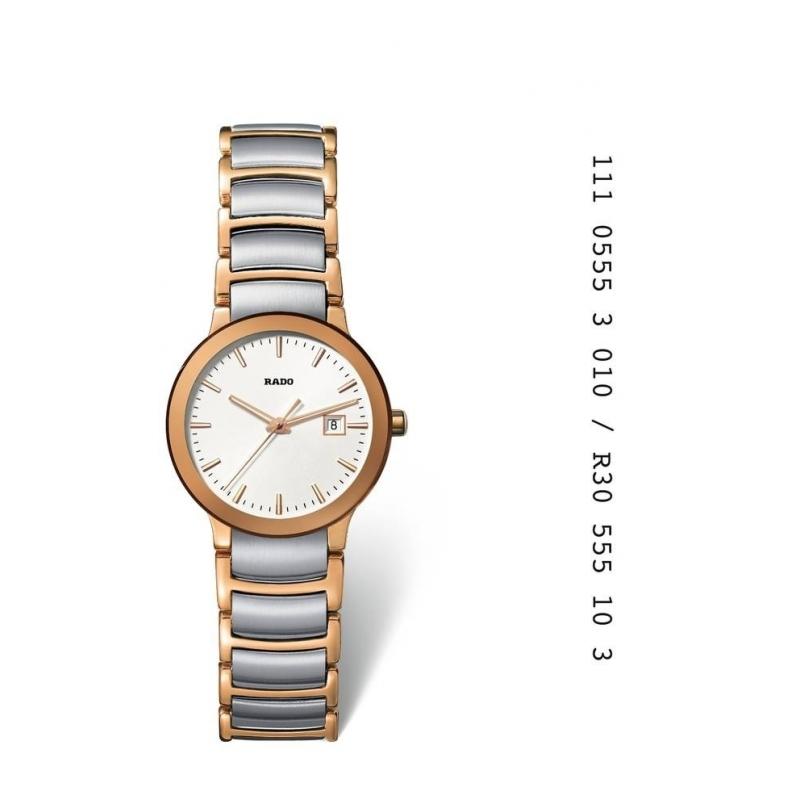 """Reloj Rado de mujer en acero chapado """"Centrix"""" R30555103"""