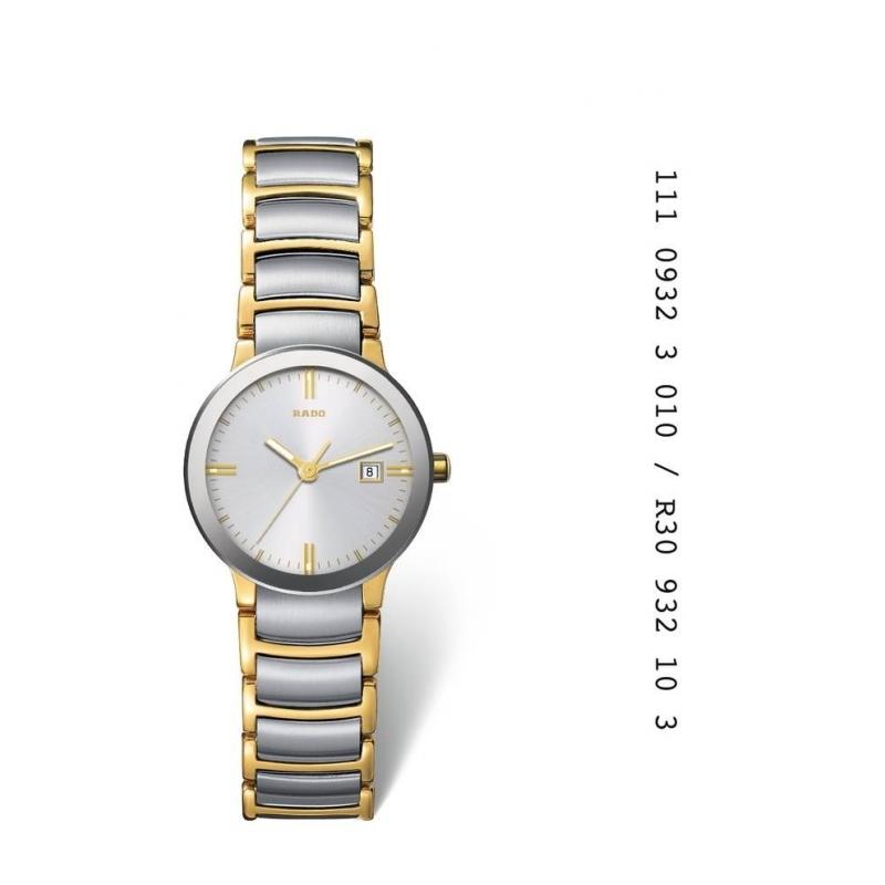 "Reloj Rado de mujer acero chapado ""Centrix"" R30932103"