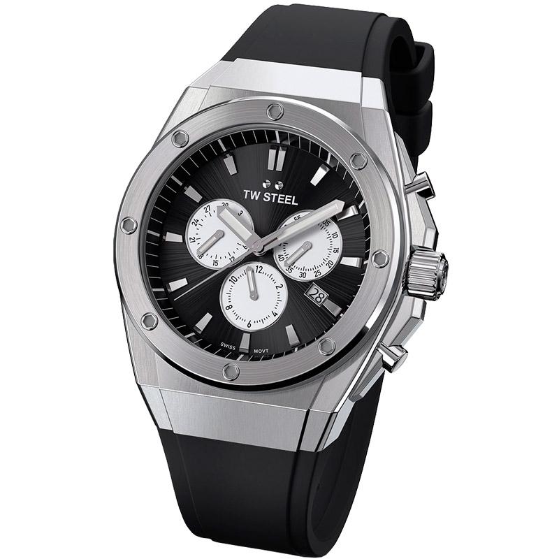 Reloj Tw Steel CEO Tech edición limitada 44 milímetros caja de acero y silicona, CE4041.