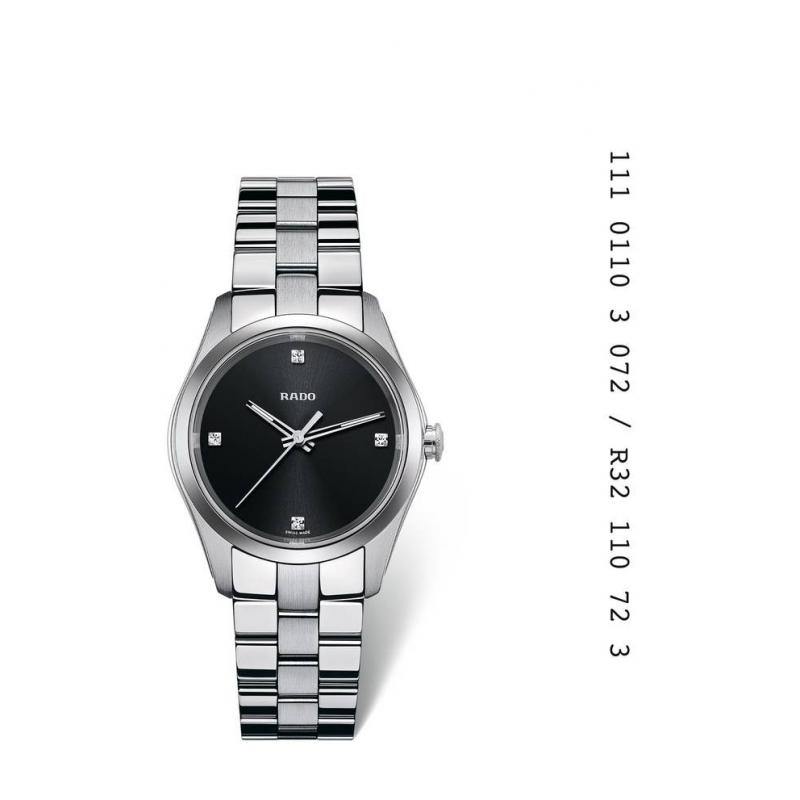 """Reloj Rado de mujer """"Hyperchrome"""" en acero con diamantes R32110723"""