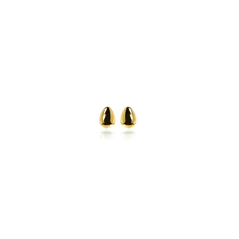 """Pendientes de acero chapado en oro de Luxenter """"Melagne"""""""