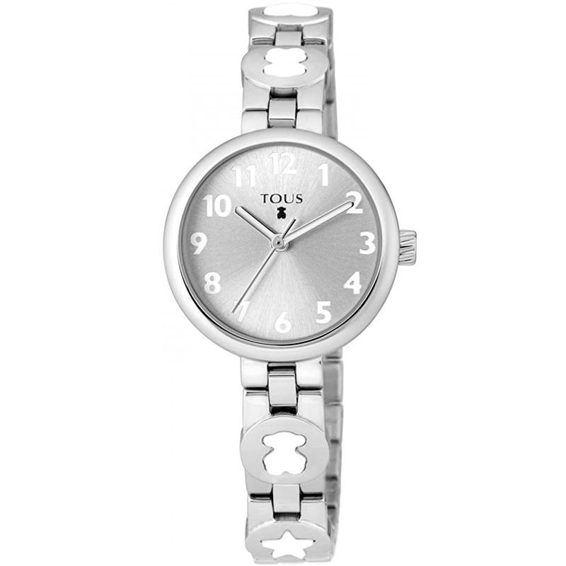 Reloj Tous Bahia de niña en Acero con Osos de Tous en blanco, 700350015.