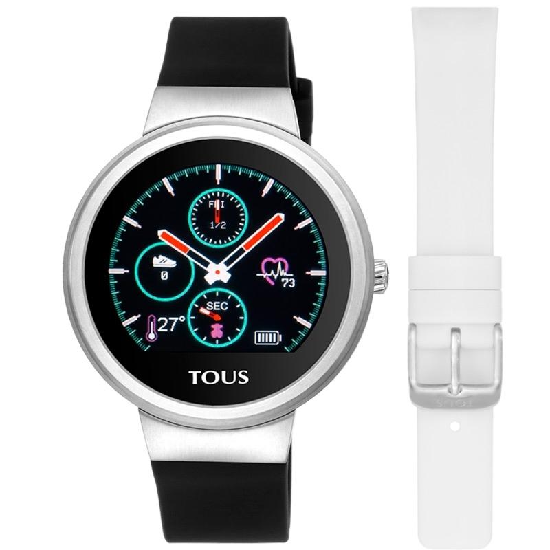 Reloj Activity Tous Rond Touch en acero con correa de silicona intercambiable, 000351680