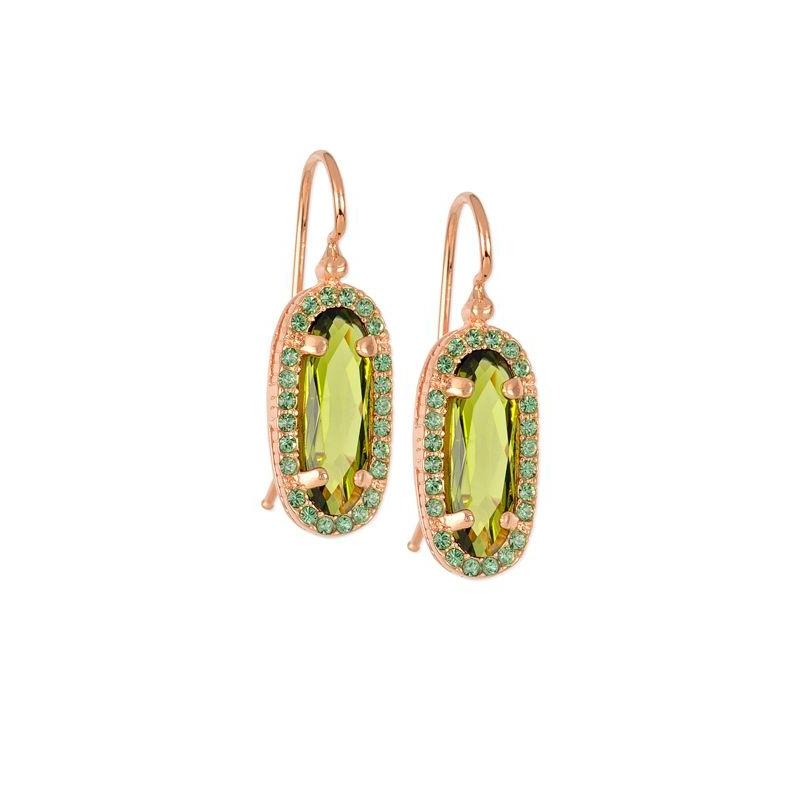Pendientes en plata dorada en oro con piedras Swarovski®, 0408 de Maximo Betro.
