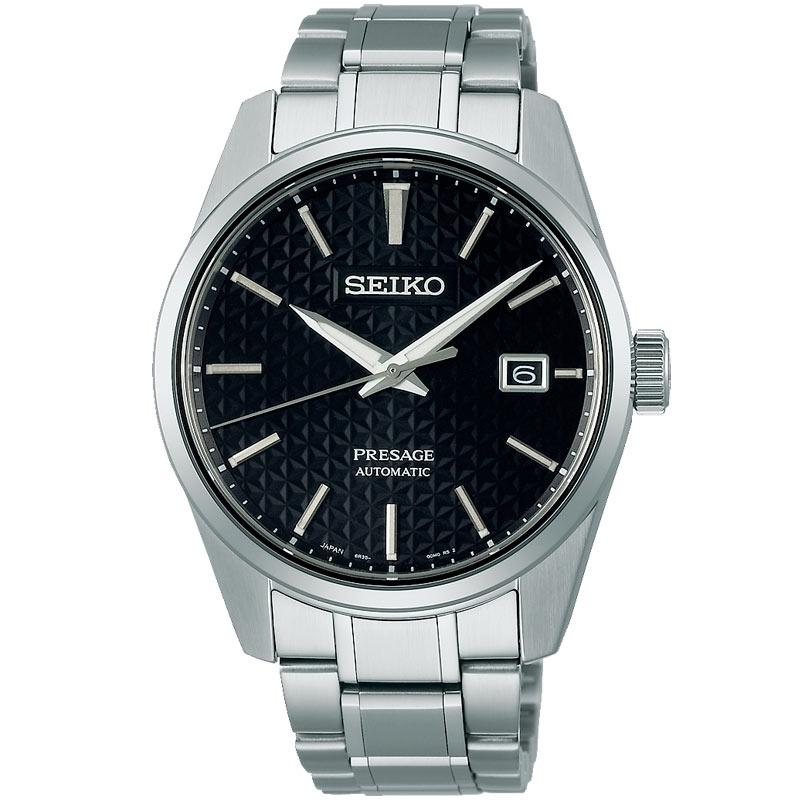 Reloj Seiko Presage Sharp Edged automático acero con esfera negra, SPB203J1.