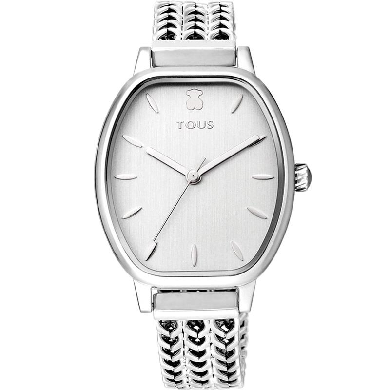 Reloj Tous Osier de mujer en acero con malla de espigas, 100350405.