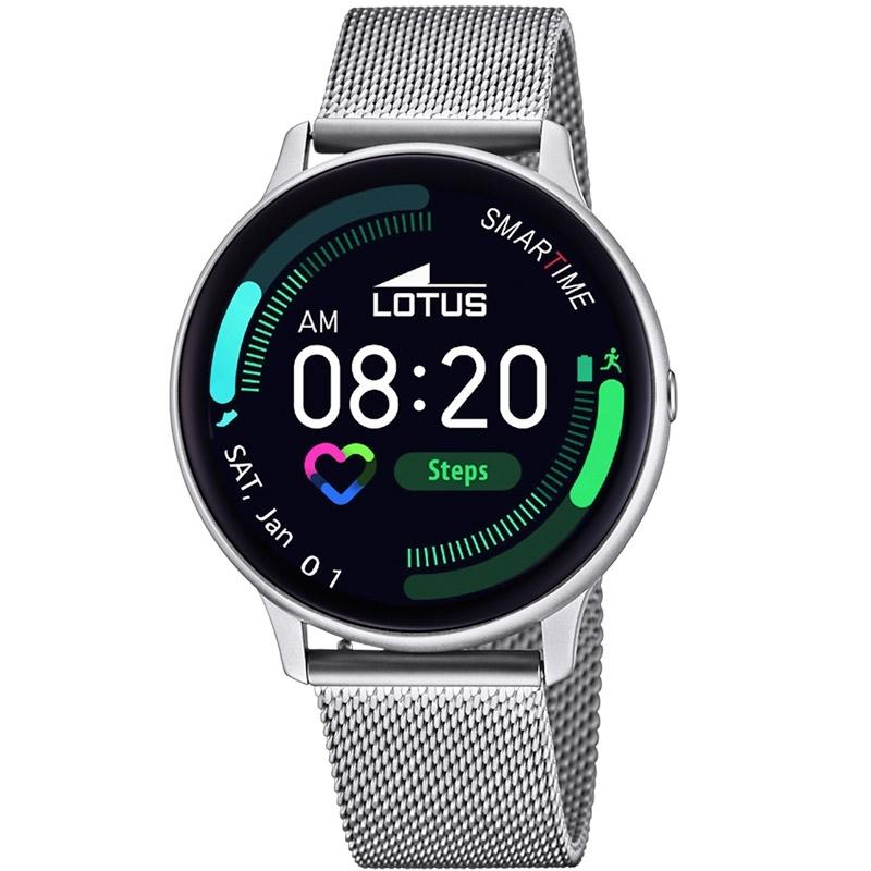 Reloj Inteligente Lotus Smartime de hombre plateado con correa extra, 50014/1.