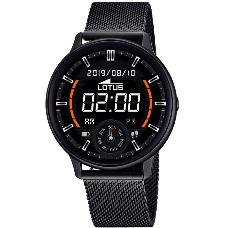 Reloj inteligente Lotus Smartime de hombre en negro con correa extra, 50016/1.