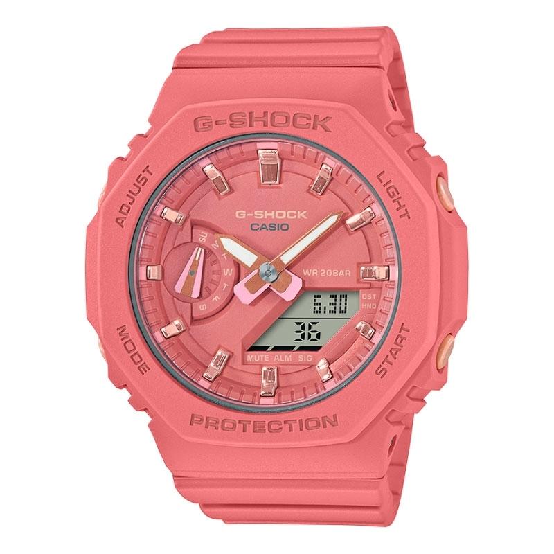 Reloj Casio G-Shock Classic Carbon Core de mujer octogonal en rosa, GMA-S2100-4A2ER.