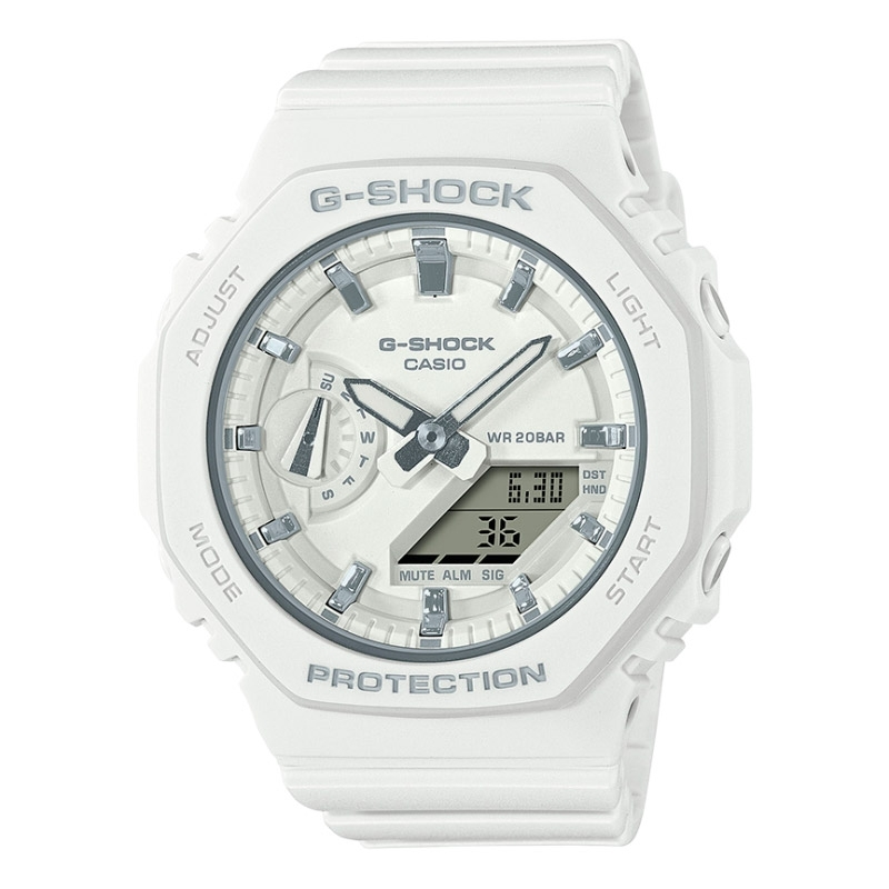 Reloj Casio G-Shock Classic Carbon Core de mujer en resina blanca, GMA-S2100-7AER.