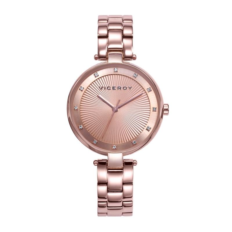 Reloj Viceroy de mujer Chic en acero dorado rosé circonitas en esfera 471300-97.