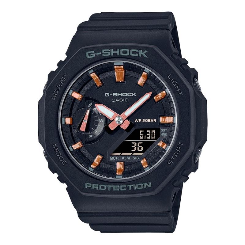Reloj Casio G-shock Classic Carbon Core de mujer en negro, GMA-S2100-1AER.