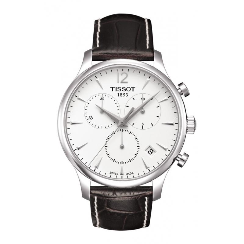 """Reloj Tissto """"Tradition"""" de hombre, con cronógrafo y piel T0636171603700"""