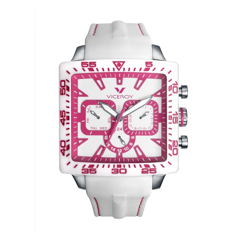 "Reloj Viceroy ""Fun Colors"" unisex blanco y rosa 432101-95"