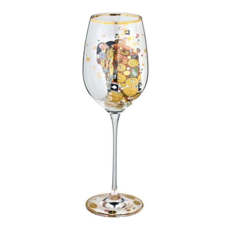 """Copa de vino """"El abrazo"""" de Gustav Klimt, Goeble"""