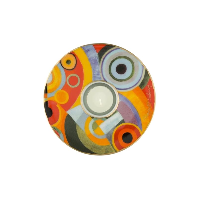 """Portavelas de porcelana decorada """"Vitality"""", de Goebel"""