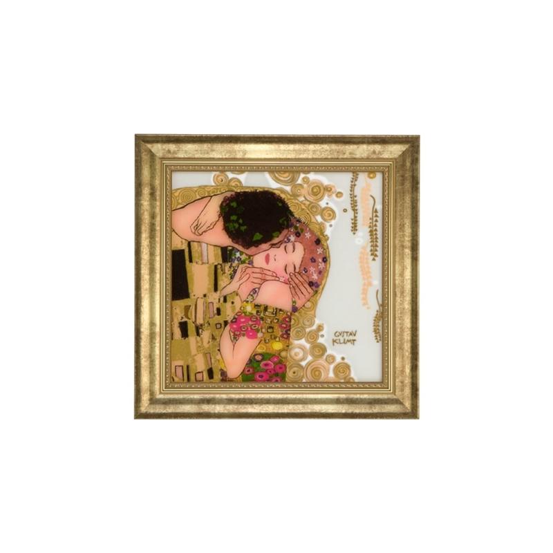 "Cuadro en cristal ""El beso"" de Gustav Klimt, Goebel"