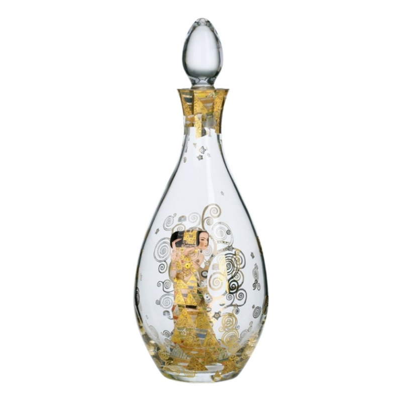 """Botella de cristal """"La expectativa"""" de Gustav Klimt, Goebel"""