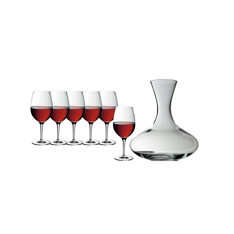 Juego de 6 copas de vino y decantador de WMF