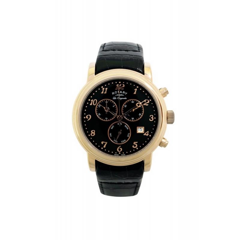 """Reloj Rotary de hombre """"Les Originels"""" dorado con correa piel GS90022/19"""