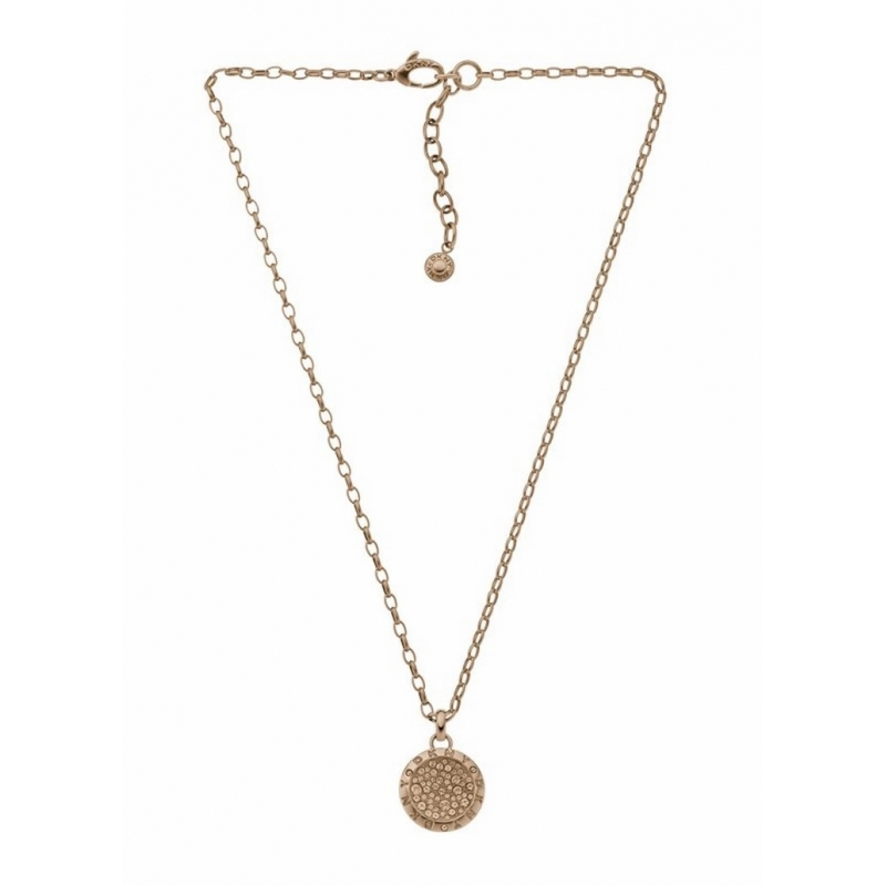 Colgante con cadena DKNY de acero dorado y circontias NJ2023040