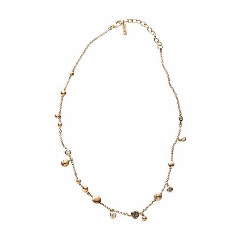 Collar DKNY de acero dorado oro rojo y circonitas NJ1702040