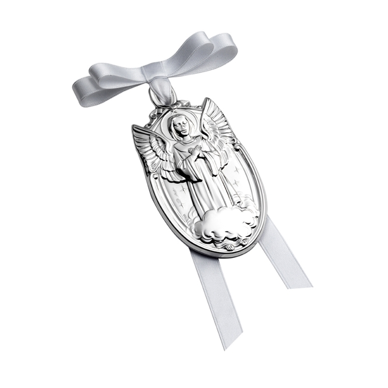 Medalla de cuna en plata de ley con Ángel de la Guarda, de Pedro Durán 00300057