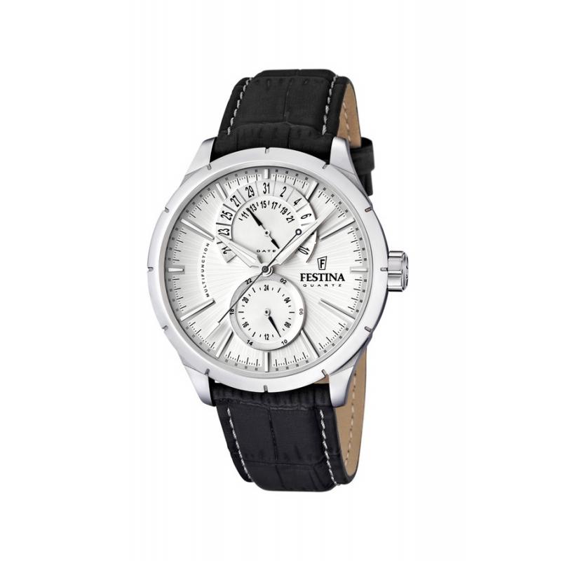 Reloj Festina de hombre de acero con correa de piel marrón F16573/1
