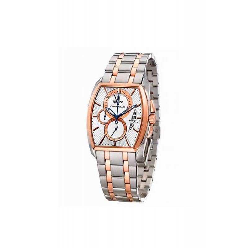 Reloj Festina de hombre cronógrafo acero y dorado oro rojo F6758/1