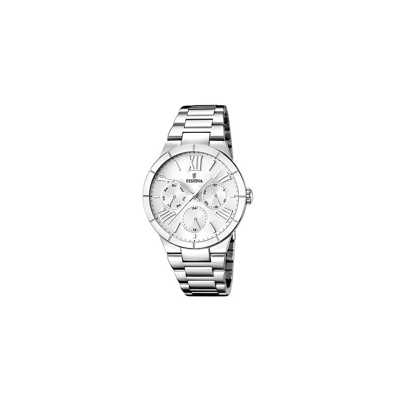 """Reloj Festina de mujer """"Mademoiselle"""" multifunción en acero F16716/1"""