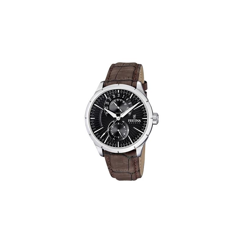 """Reloj Festina de hombre """"Klassic"""" multifunción correa piel marrón F16573/4"""