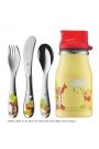 """Cubiertos infantiles de acero con mini botella """"Winnie the Pooh"""", de WMF"""