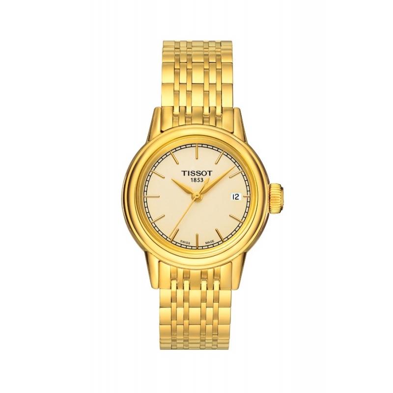 """Reloj Tissot """"Carson"""" de mujer en dorado oro amarillo T0852103302100"""