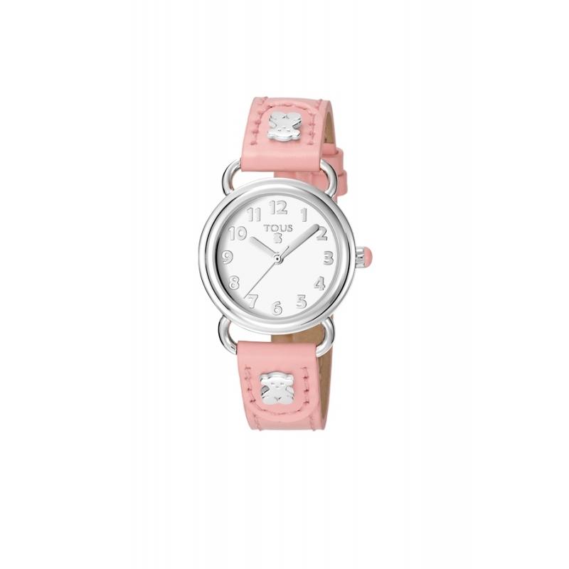 """Reloj Tous para niña """"Baby Bear"""" correa piel rosa 500350180"""