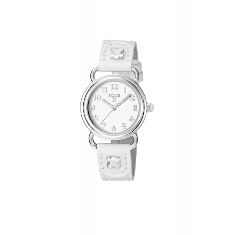 """Reloj Tous de niña """"Baby Bear"""" correa piel blanca 500350175"""